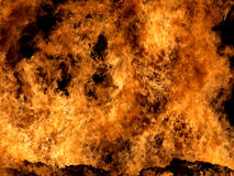 Fire. Fierce fire seen through heat haze Stock Photo