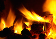 Fire. Heat and flames of fire Stock Photo