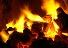 Fire. Heat and flames of fire Royalty Free Stock Photos