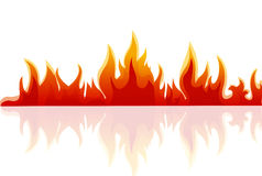 Fire. Illustration of fire on white background Royalty Free Stock Image