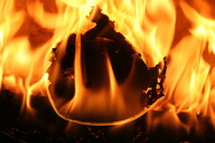 Fire. Veri beautiful dance of orange fire in my home Royalty Free Stock Photography