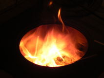 A fire. An image with a fire in a stove Royalty Free Stock Image