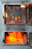 Fire-2. Coal hearth. Burning in stove fire Stock Photo