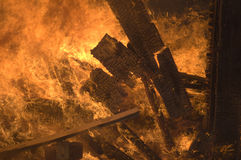 On fire. Close-up photo of a structure fire royalty free stock photos