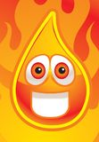 Fire. A smiling flame surrounded by flames Royalty Free Stock Photo