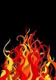 Fire. Illustration of Fire over a black background Royalty Free Stock Image