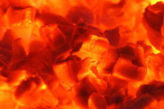 Fire 22. Fire and ember in fireplace Stock Photography