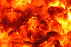 Fire 23. Fire and ember in fireplace Stock Photo