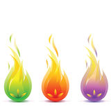 Fire. Stylized fire in three colors Royalty Free Stock Photography