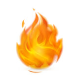 Fire. Computer illustration on a white background Royalty Free Stock Image