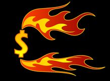 Fire. Vector fire with hot colors and fire flames Stock Photo