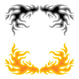 Fire. Illustration abstract decoration border over white Royalty Free Stock Image