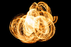 Fire. Isolated on black Background Royalty Free Stock Photo