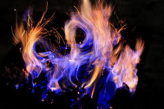 Fire. A fire is burning in the night Stock Image