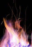 Fire. A fire is burning in the night Royalty Free Stock Image