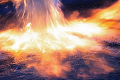 Fire. A fire is burning in the night Stock Photo