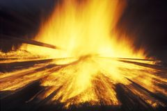 Fire. Big fire Stock Photography