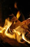 Fire. Heat - Burning firewood in stove Royalty Free Stock Image
