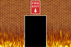 Fire. Exit sign with Stock Images