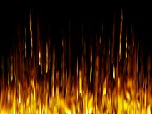 Fire. Abstract Flames on a black background Stock Photo