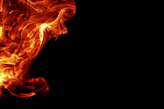 Fire. Like background on black Royalty Free Stock Image