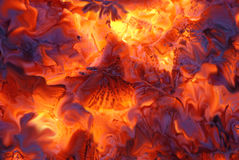Fire. Abstract melting, fire and ember Royalty Free Stock Images
