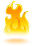 Fire - 3D. A 3d image of flame with shadow Royalty Free Stock Photography