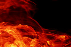 Fire. Beautiful fire texture on black Stock Images