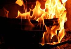 Fire. Close up of burnning fire Stock Photos