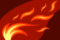 Fire. Vector illustration of burning fire Stock Image