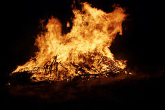 Fire. Bonfire burning brightly Royalty Free Stock Images