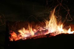 Fire. Barbecue Stock Photography