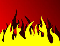 Fire. On red background, vector illustration royalty free illustration