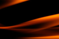 Fire. On black close up abstract background Stock Photos