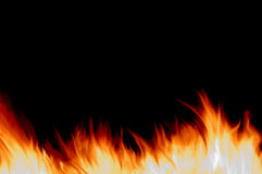 Fire. Isolated on black background Royalty Free Stock Image