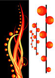 Fire. Background for design. An abstract composition Stock Images