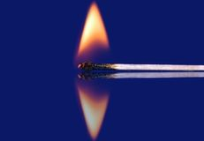 Fire. Match, fire royalty free stock photo