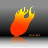 Fire. Vector abstract fire on black background with hot flames Royalty Free Stock Image