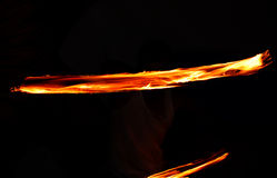 Fire. Show, a line a flame Royalty Free Stock Photography