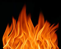 Fire. Flames background or texture Stock Image