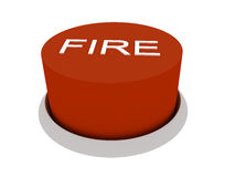 Fire. 3d image of button Fire. White background Vector Illustration