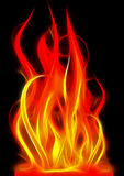 Fire. Abstract illustration of fire on a night background Royalty Free Stock Images