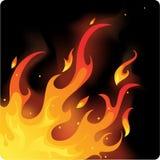 Fire. On black back ground Stock Image