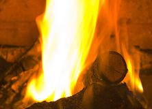 Fire. In a place. Close-up Stock Images