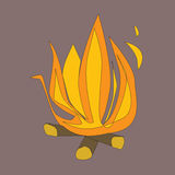 Fire. In a brown background Royalty Free Stock Photos