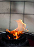Fire. In a temple Royalty Free Stock Images