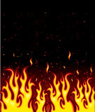 Fire. On black backgraund, vector illustration Royalty Free Stock Images