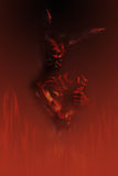 Fire. Devil. Art project Stock Photos