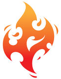 Fire. Hot burning flames of fire good for tattoo Royalty Free Stock Images