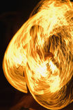 Fire. Beautiful fire dance in the night Stock Image